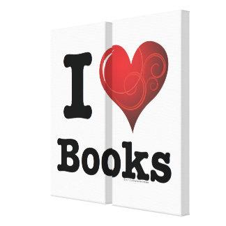 ¡I el corazón reserva los libros del amor de I! Impresión En Lienzo