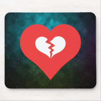I el corazón se rompe sube el icono alfombrillas de raton