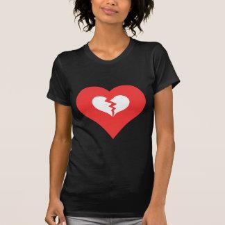 I el corazón se rompe sube el icono t-shirts