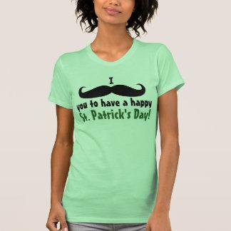 I el día de St Patrick del bigote usted Camiseta