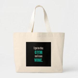I el entrenamiento así que yo puede wine - gimoteo bolsa tela grande