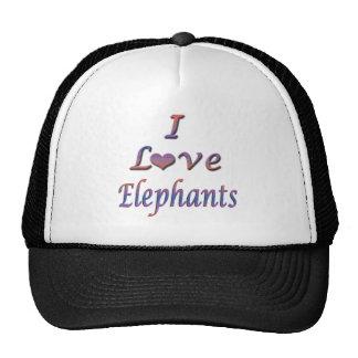 I elefantes del corazón (amor) gorra