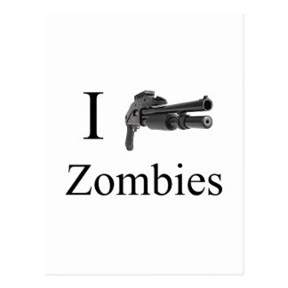 I eliminate Zombies Shoot Pump Shotgun Postcard