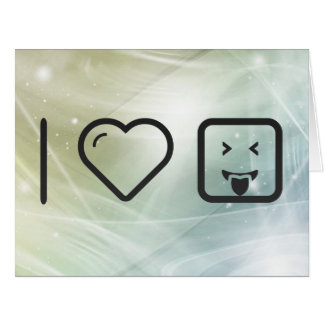 I Emoticons del placer del corazón Tarjeta De Felicitación Grande