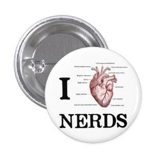 I empollones del corazón pin redondo de 1 pulgada