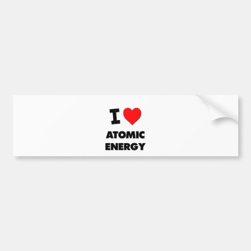 I energía atómica del corazón etiqueta de parachoque