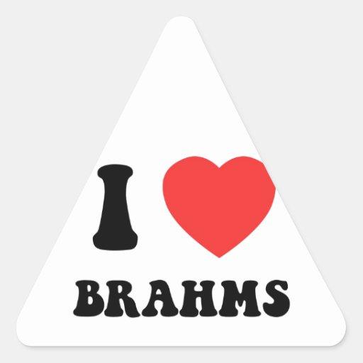 I engranaje de Brahms del corazón Calcomanía Triangulo