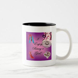 I Enjoy Being a Girl Two-Tone Coffee Mug