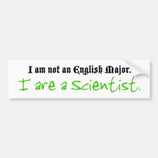 I es científico pegatina de parachoque