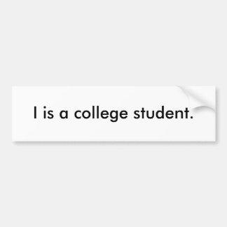 I es pegatina del estudiante universitario pegatina para auto