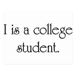 I es un estudiante universitario postal