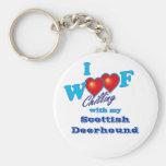 I escocés Deerhound del tejido Llaveros