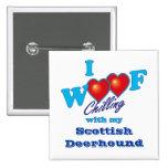 I escocés Deerhound del tejido Pins