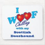 I escocés Deerhound del tejido Alfombrilla De Ratón