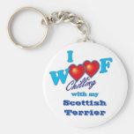 I escocés Terrier del tejido Llaveros Personalizados