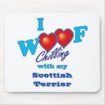 I escocés Terrier del tejido Tapete De Raton