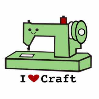 I escultura de la máquina de coser de Kawaii del a Fotoescultura Vertical