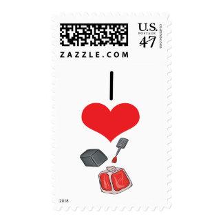 I esmalte de uñas del corazón (amor) timbre postal