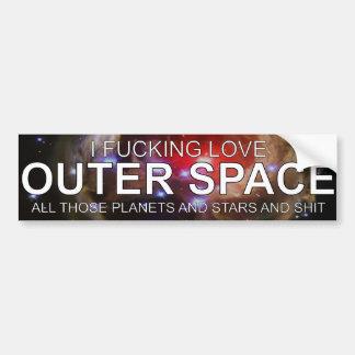 I espacio exterior del amor de Fricken todas esas  Pegatina De Parachoque