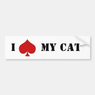 """I """"espada"""" mi gato pegatina para auto"""