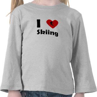I esquí del corazón camiseta