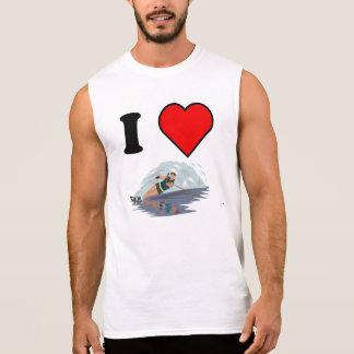 I esquí náutico del corazón camisetas sin mangas