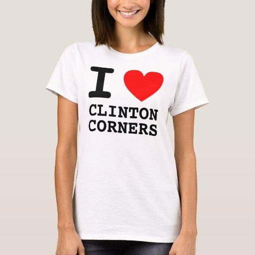 I esquinas de Clinton del CORAZÓN Playera