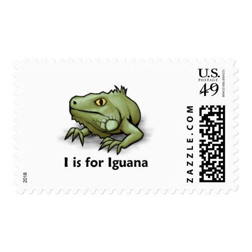 I está para la iguana franqueo