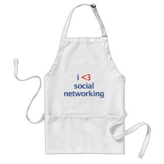 I establecimiento de una red del Social del corazó Delantales