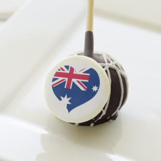 I estallidos de la torta de Australia del corazón