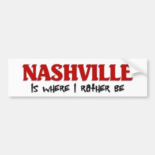 I esté bastante en Nashville Etiqueta De Parachoque