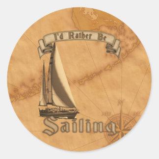 I esté navegando bastante pegatina redonda