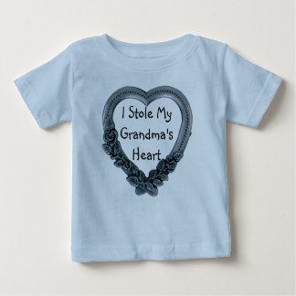 I estola camiseta del corazón de mi abuela playera para bebé