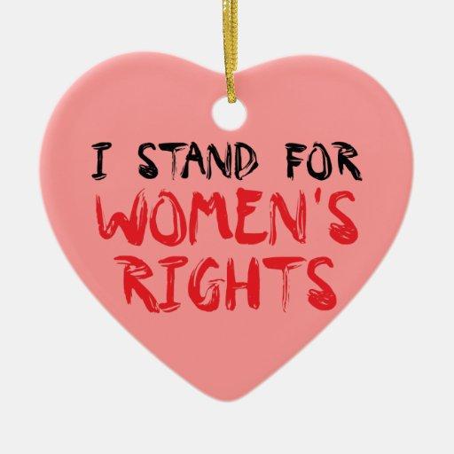 I estuvo Christmas ornament for women's rights Adorno Navideño De Cerámica En Forma De Corazón