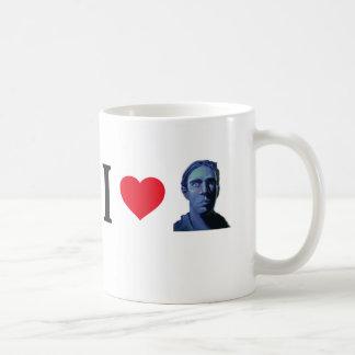 I evadido del corazón un poco taza de café