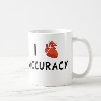 I exactitud del corazón taza de café