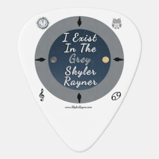 I Exist In The Grey by Skyler Rayner Guitar Pick