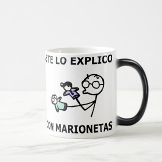 I explain it to you with marionettes? 11 oz magic heat Color-Changing coffee mug