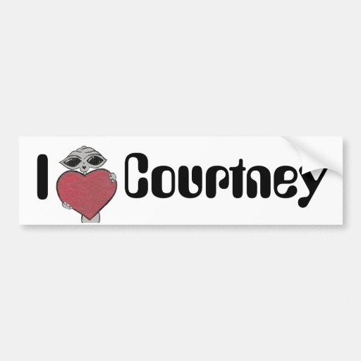 I extranjero de Courtney del corazón Pegatina De Parachoque