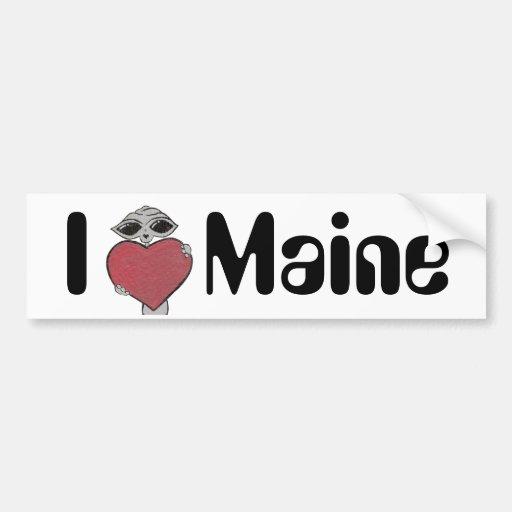 I extranjero de Maine del corazón Pegatina Para Auto