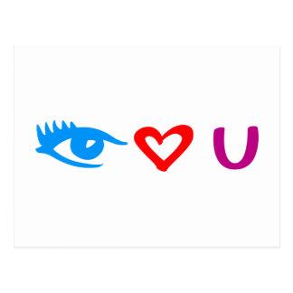 i eye love you tarjetas postales