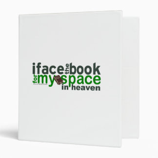 I Face the Book for Myspace Vinyl Binder