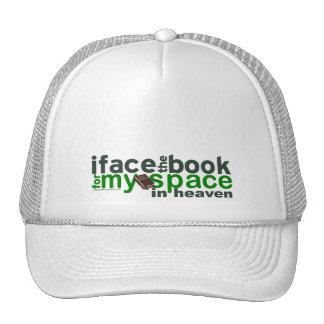 I Face the Book for Myspace Trucker Hat