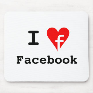 """I ♥ Facebook"" Mousepad"