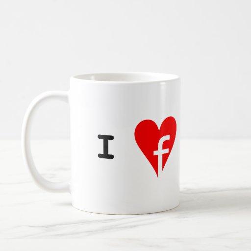 """I ♥ Facebook"" Mug"