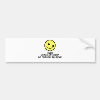 I Failed ISO9000 Bumper Sticker