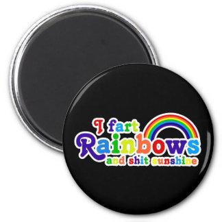 I Fart Rainbows and Shit Sunshine Grobe 2 Inch Round Magnet