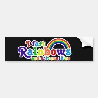 I Fart Rainbows and Shit Sunshine Grobe Bumper Sticker