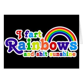 I Fart Rainbows and Shit Sunshine Grobe Card