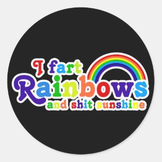 I Fart Rainbows and Shit Sunshine Grobe Classic Round Sticker